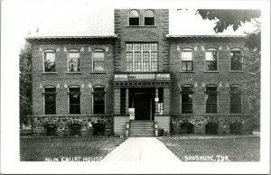 Vtg  RPPC 1940s Shoshone Idaho ID Lincoln County Court House No. 14 UNP