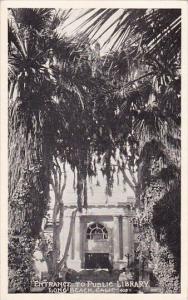 California Long Beach Entrance To Public Library