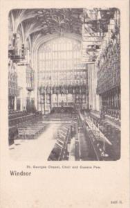 England Windsor Castle St Georges Chapel Choir and Queens Pew
