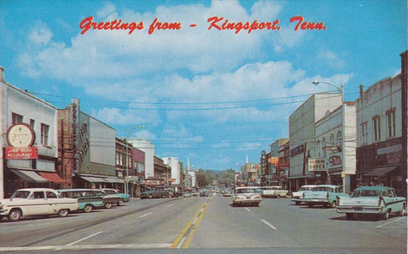 Broad Street , KINGSPORT , Tennessee ,  50-60s