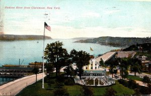 New York Hudson River From Claremont 1908