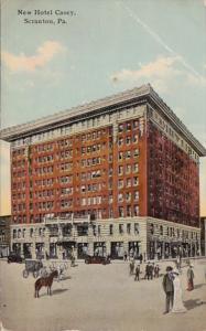 Pennsylvania Scranton Hotel Casey 1911 Curteich