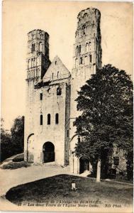 CPA Ruines de l'Abbaye de Jumiéges - Les deux Tours de l'Église N.-D. (516661)