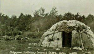 RPPC Photo Chippewa Tribe Detroit Lakes Minn. Postcard A2