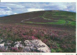 Devon Postcard - Grimspound [Ruined Bronze Age Village] from Hookney -Tor 18752A