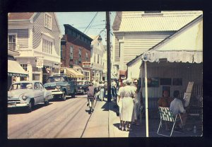 Provincetown, Massachusetts/MA Postcard, Commercial Street, Old Cars, Cape Cod