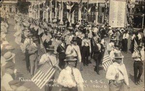 Kenosha WI 1919 WWI Homecoming Parade Real Photo Postcard #4