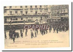 Old Postcard Nantes Events June 14, 1903 police captain Bandry taking in hand...