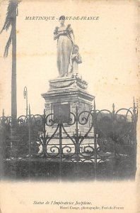 Martinique Post card Old Vintage Antique Postcard Statue de l' Imperatri...