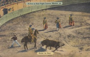 Action in Bull Fight , JUAREZ , Mexico , 30-40s