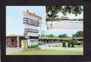 SC Peach Blossom Motel Hwy 85 Spartanburg South Carolina Postcard