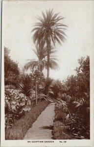 An Egyptian Garden No 29 Egypt Unused Lilywhite Real Photo Postcard F77