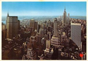 USA Panorama of the New York Skyline, Pan Am Building, Chrysler Building