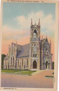 Vermont Bennington St Francis De Sales Catholic Church 1957