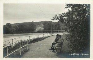 Slovakia Piešťany Piestany spa town Bad Pistyan strand real photo postcard