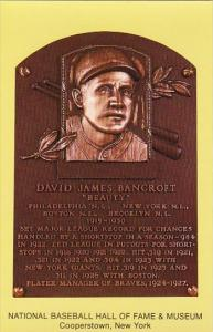 David James Bancroft Beauty Baseball Hall Of Fame & Museum Cooperstown New York