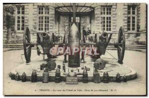 Old Postcard Army Verdun The courtyard of the city & # 420 39hotel Obus German