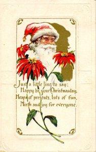 Greeting - Christmas, Santa Claus  (red)