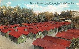 LPS67 Medford Oregon Merrick's Auto Camp Modern Cottages Postcard