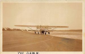 Old Orchard Beach ME The Dawn Airplane Mrs. Francis Wilson Greyson Pilot RPPC