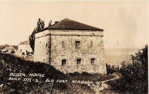 G22/ Old Fort Niagara New York RPPC Postcard c1920s The Block House  2