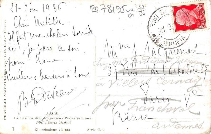 BR78195 assisi la basilica di s francesco piazza interiore postcard  italy