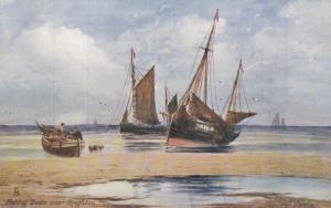TUCK; Near BRIGHTON, East Sussex, England, United Kingdom; Fishing Boats, 190...
