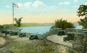 Postcard Cannons at Fort Ticonderoga on Lake Champlain, N.Y.       R5
