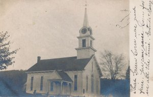 RPPC Church mailed from North Rochester New Hampshire Rural NH Church? DPO 1907