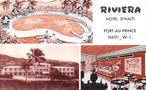 Haiti Old Vintage Antique Post Card Riviera Hotel D'Haiti Port-au-Prince...