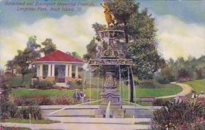 Illinois Rock Island Bandstand and Davenport Memorial Fountain Longview Park ...