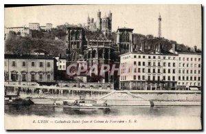 Old Postcard Lyon Cathedrale Saint Jean Coteau de Fourviere