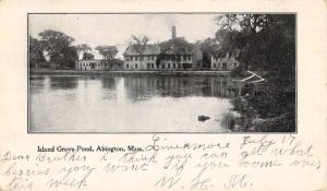 Abington Massachusetts Island Grove Pond Waterfront Antique Postcard K92755