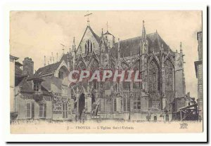 Troyes Postcard Old L & # 39eglise Saint Urbain (trade In Point Lingerie Day)