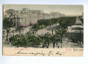 192432 TUNIS avenue de la Marine Vintage RPPC 1902 year
