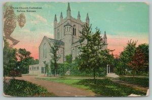 Salina Kansas~Christ Church Cathedral~c1910 Postcard