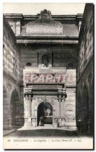 Toulouse Old Postcard The Capitol Henri IV court
