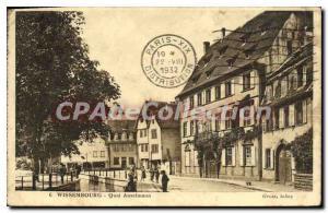 Old Postcard Wissembourg Quai Anselmann tobacco