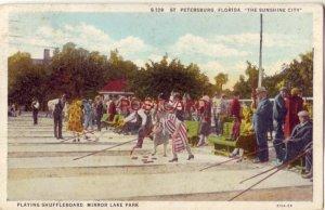 1932 PLAYING SHUFFLEBOARD, MIRROR LAKE PARK, ST. PETERSBURG, FLORIDA