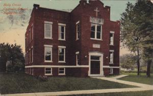 Exterior, Holy Cross Catholic School, Mendota, Illinois,PU-00-10s