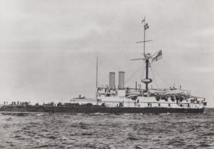 HMS Victoria Military War Ship Mediterranean RPC Maritime Museum Rare Postcard