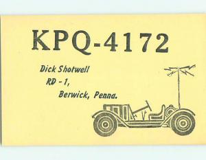 comic - QSL CB HAM RADIO CARD Berwick Pennsylvania PA t9431