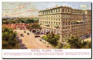 Italy Italia Postcard Old Roma Hotel Flora