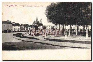 Old Postcard Padova Piazza Vittorio Emanuele