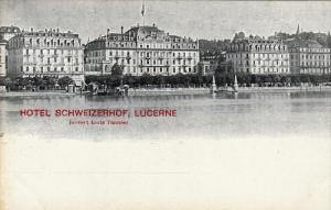 Hotel Schweizerhof , Lucerne , Switzerland , 1890s