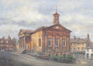 Postcard Art Chipping Norton, Oxfordshire,Cotswolds by Pat Bell Large 170x120mm