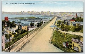 Kansas City~Intercity Viaduct~Grain Elevator~Dahlin Wagon & Carriage Works~1910