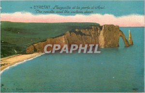 Old Postcard Etretat Needle and the Aval door