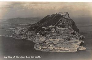 Gibraltar Eye View of Gibraltar from the South Postcard
