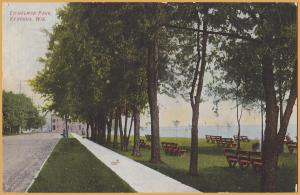 Kenosha, WIS., Eichelman Park on the Lake, 6125 3rd Ave-1909 CNW RPO